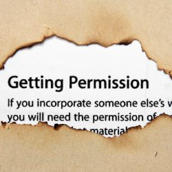 Permission text on paper hole