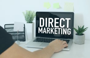 Direct Markeing on laptop